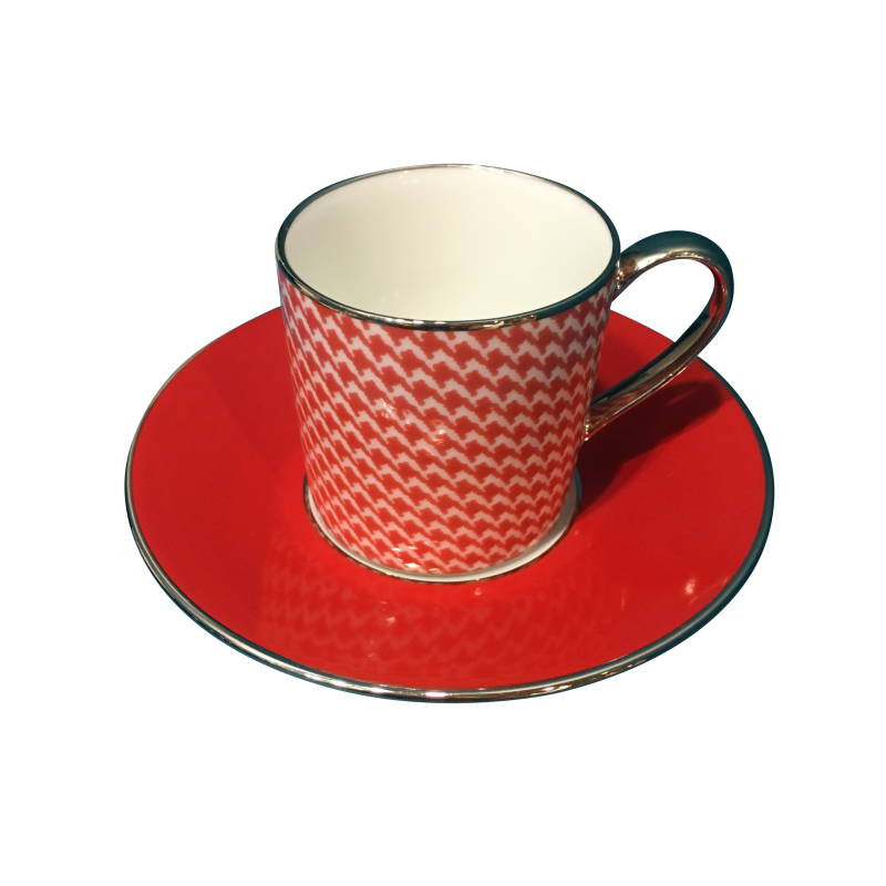 Empire Coffee Cup Saucer Houndstooth Kibo Living