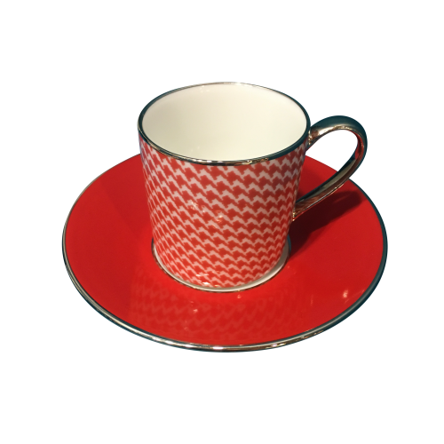 Empire coffee cup & saucer - Houndstooth