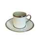 Empire coffee cup & saucer - Eclipse