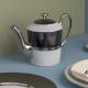 Empire coffee pot for 6 cups w. coloured band - Sous le Soleil
