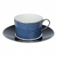 Empire breakfast cup & saucer - Houndstooth