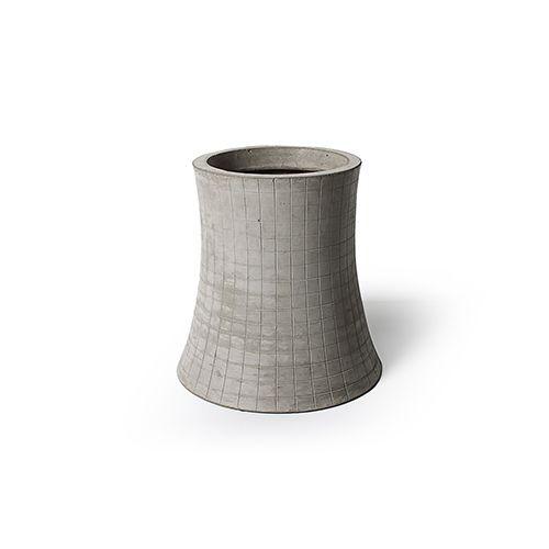 Nuclear plant - T1 H.32cm flower pot