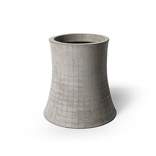 Nuclear plant - T3 H.48cm flower pot