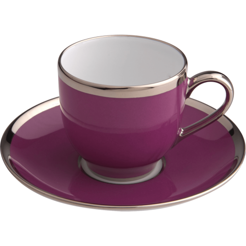 Round coffee cup & saucer - Sous le Soleil