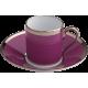Empire moka cup & saucer - Sous le Soleil